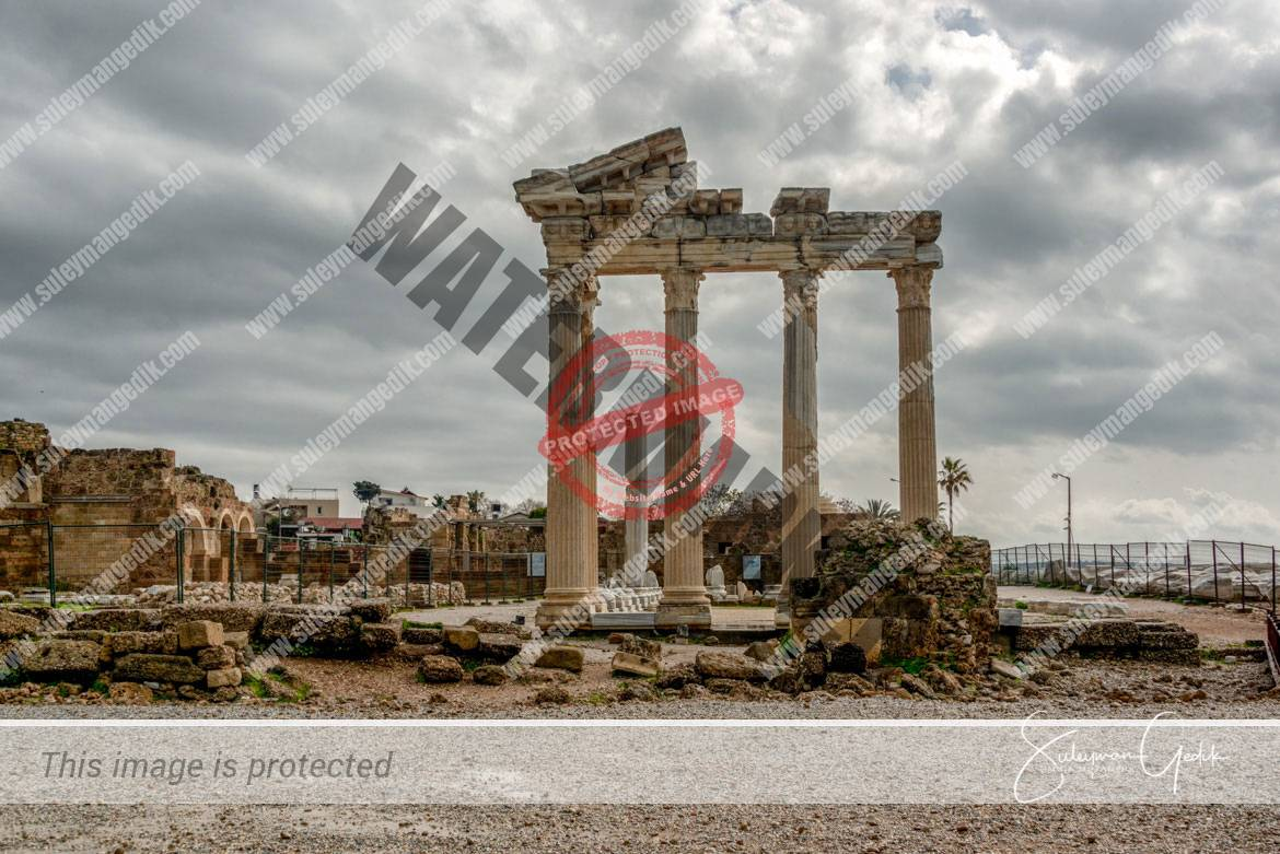 Apollo Temple Side Pamphylia Ancient Greek Archaeological Antalya Turkey