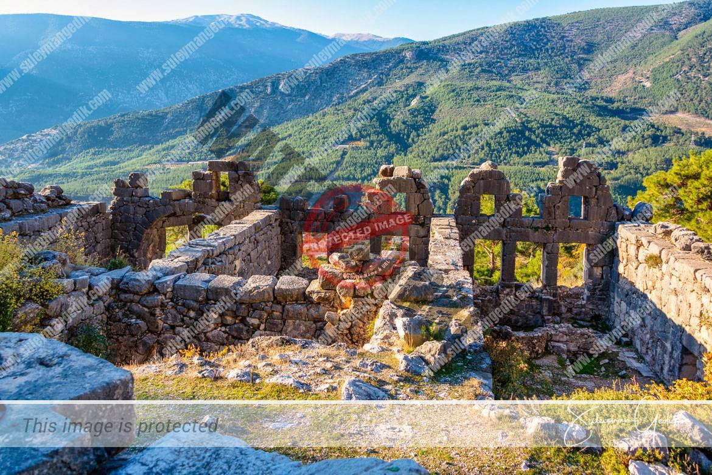 Arycanda Lycia Antalya Turkey Baths Ancient Greek Roman Archaeological
