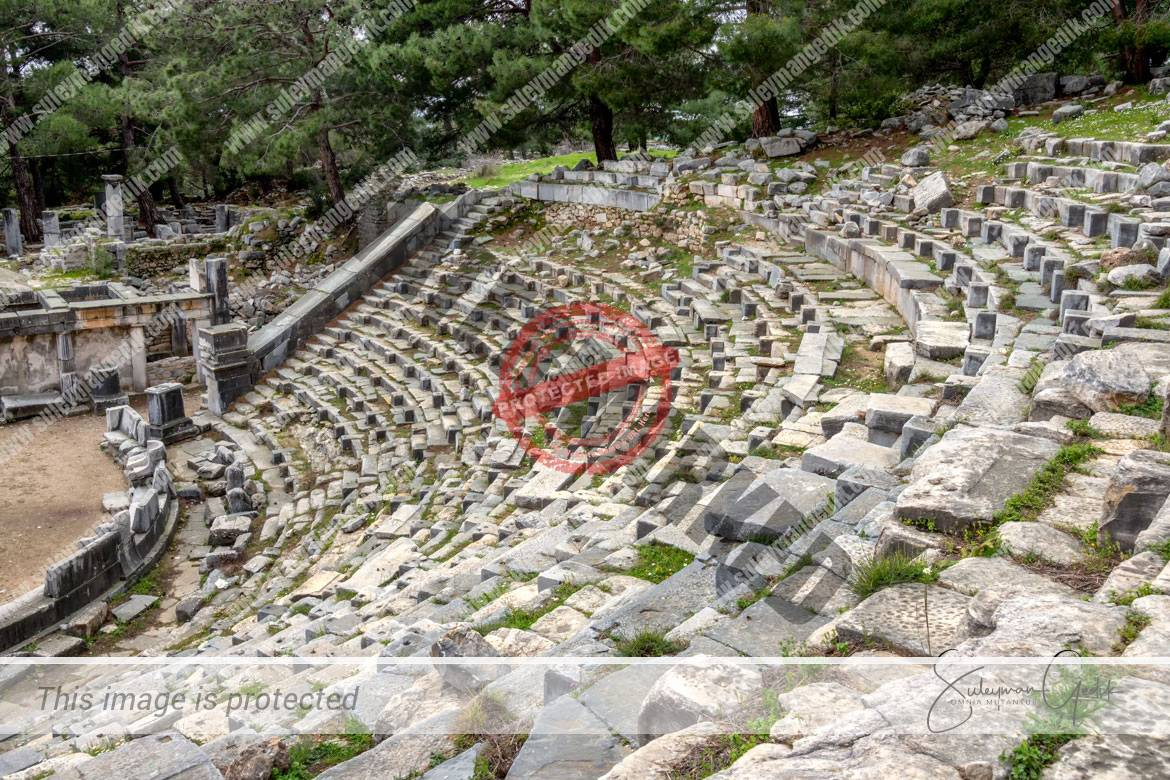 Theater Priene Ionia Ancient Greek Archaeological Aydın Turkey