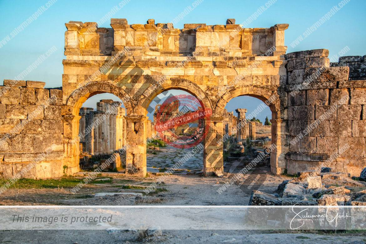 Hierapolis Phrygia Ancient Greek Roman Archaeological Denizli Turkey