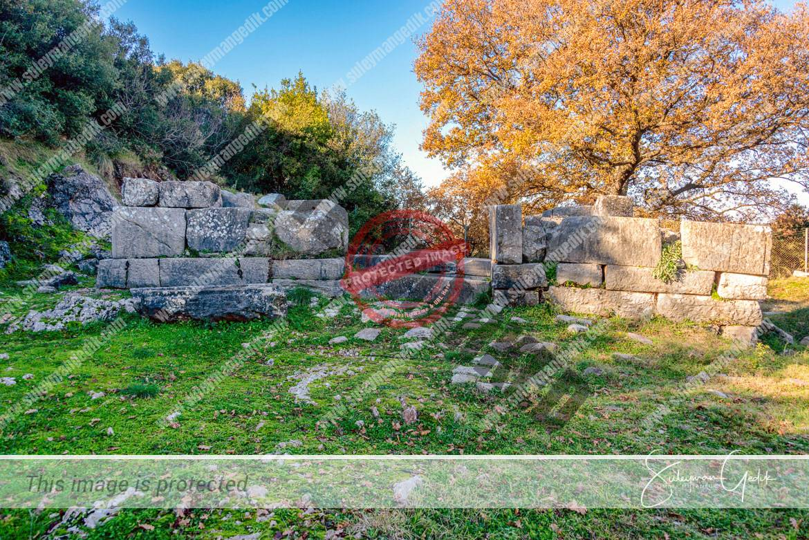 Athena Temple Phigaleia Lakonia Peloponnese Greece Ancient Greek Archaeological
