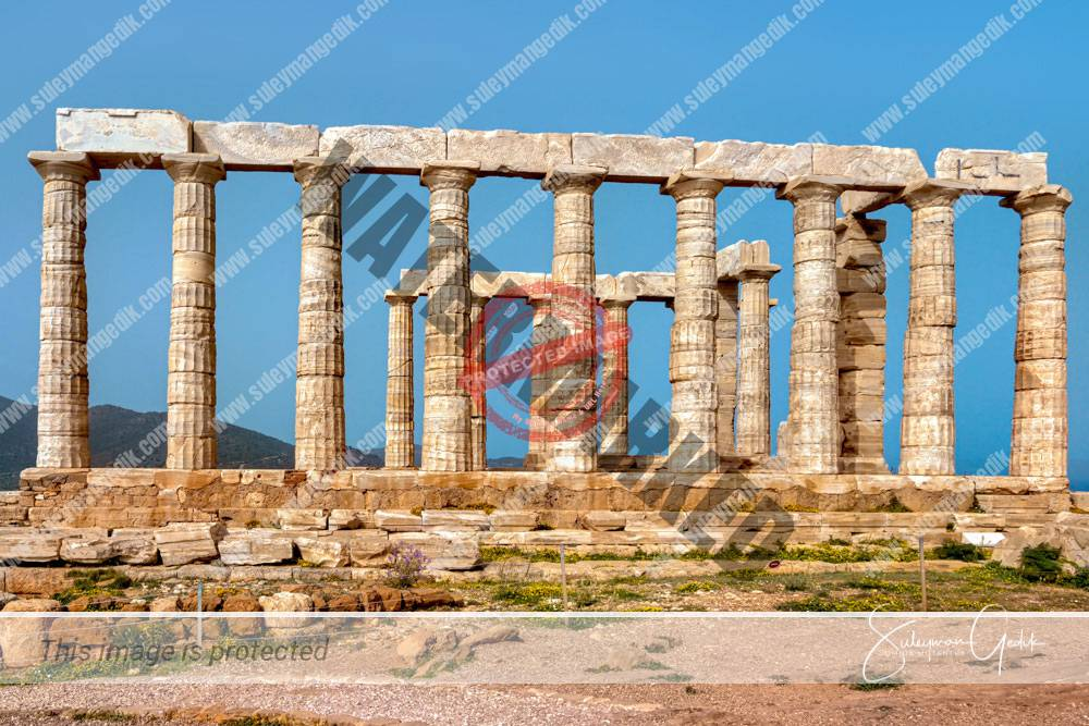 Temple Poseidon Cape Sounion Greece Ancient Greek Archaeological