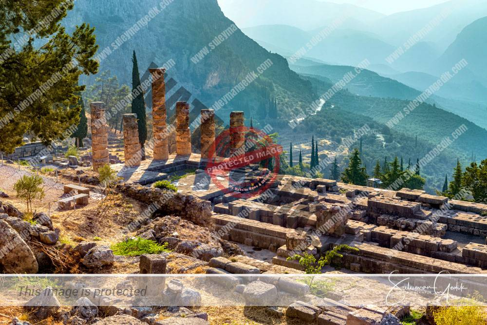 Temple Apollo Delphi Greece Ancient Greece Archaeological