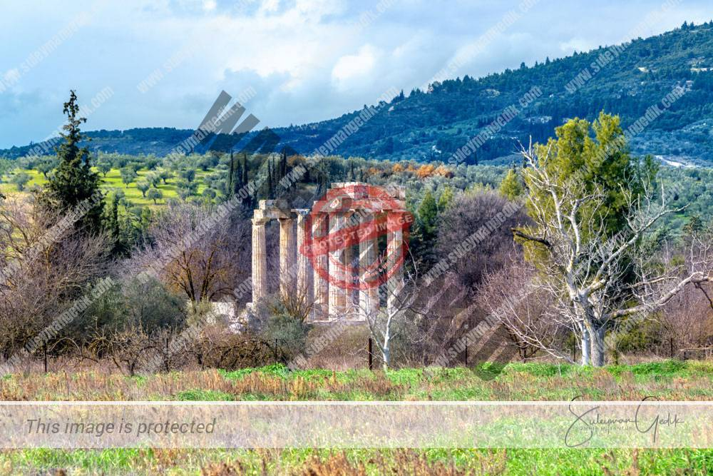 Temple Zeus Ancient Nemea Corinthia Peloponnese Greece Ancient Greek Archaeological