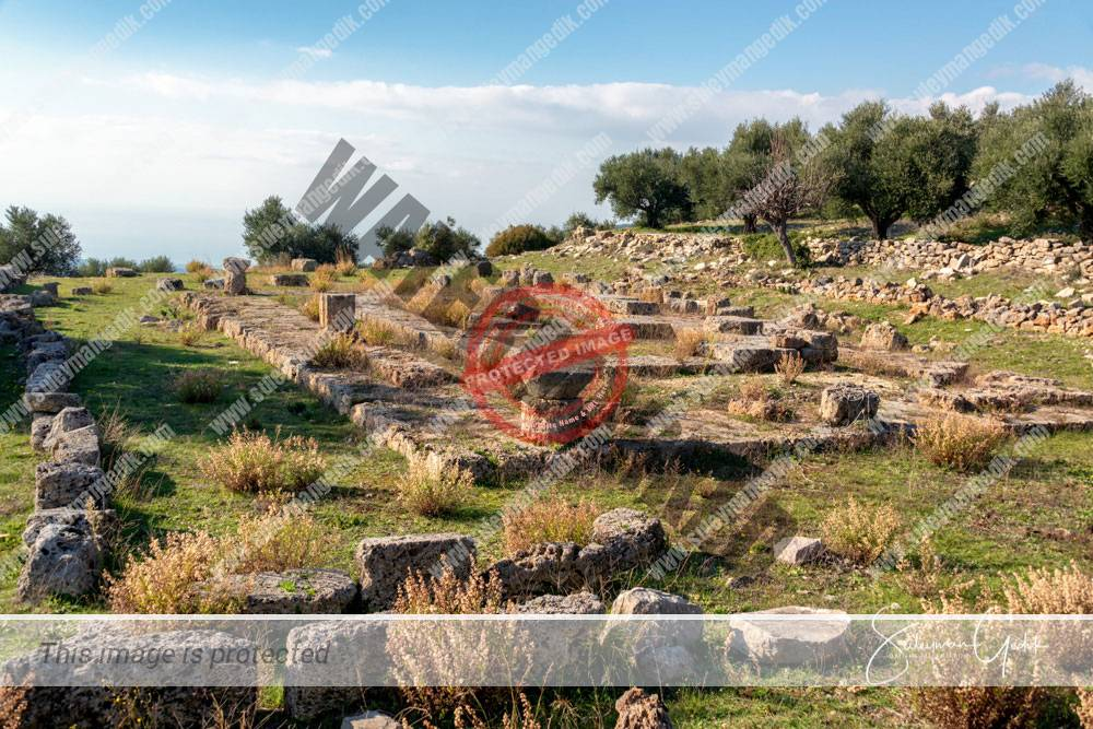 Temple Artemis Lepreon Lakonia Peloponnese Greece Ancient Greek Archaeological
