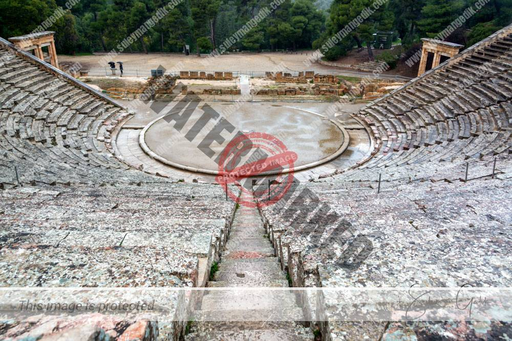 Epidavros Theater Argolis Peloponnese Greece Archaeological Greek Ancient