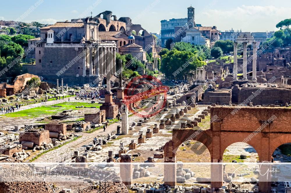 Roman Forum Archaeological Italy