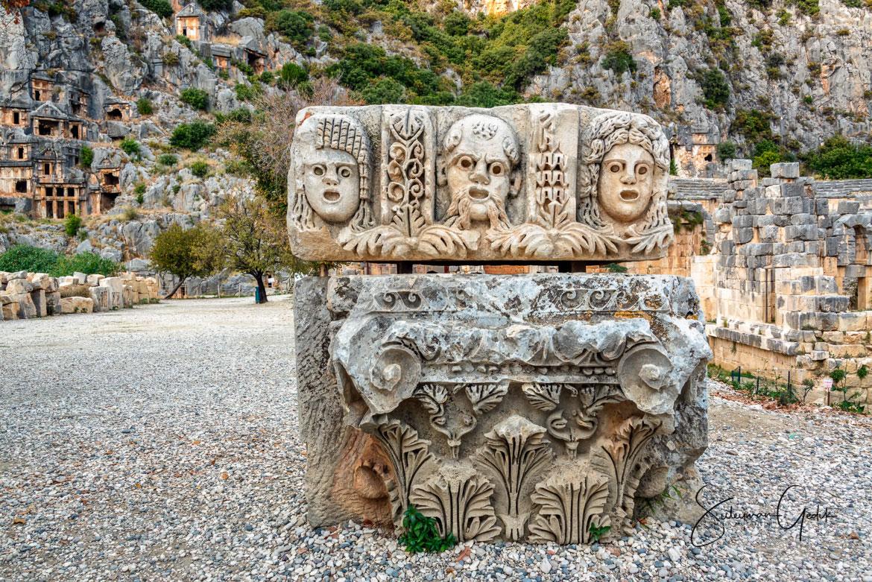 Myra Lycia Antalya Turkey Lycian Rock Tombs Ancient Greek Archaeological