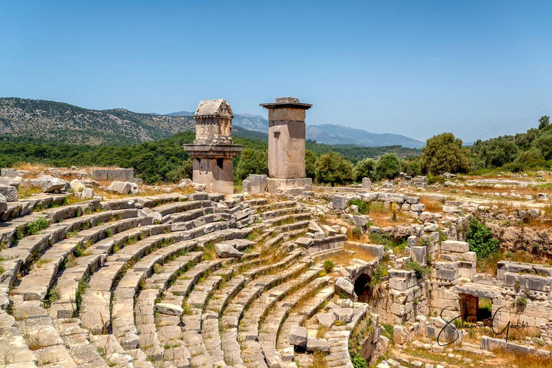 Xanthos Lycia Mugla Turkey Theater Ancient Greek Roman Archaeological