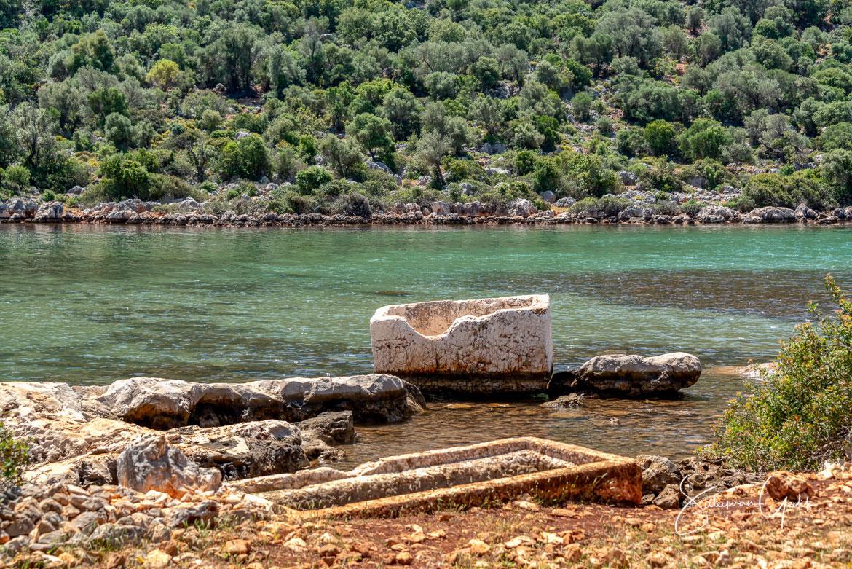 Aperlai Necropolis Lycia Sarcophagus Antalya Turkey Ancient Greek Archaeological