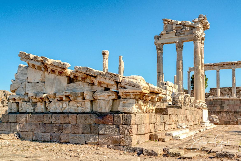 Temple Athena Pergamon Mysia Bergama Ancient Greek Archaeological Turkey