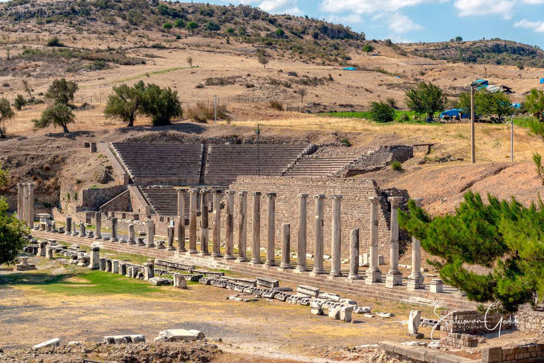 Asclepeion Pergamon Mysia Bergama Izmir Smyrna Ancient Greek Archaeological Turkey