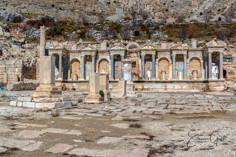 Antonine Nymphaeum Fountain Sagalassos Pisidia Ancient Greek Hellenistic Roman Archaeological Burdur Turkey