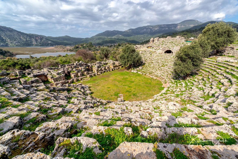 Kaunos Caria Mugla Turkey Theater Ancient Greek Archaeological
