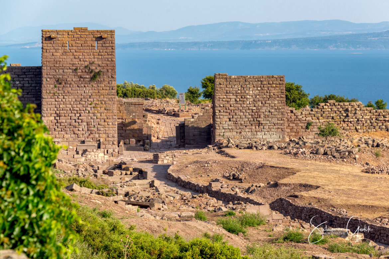 City Gates Assos Troas Çanakkale Turkey Ancient Greek Archaeological