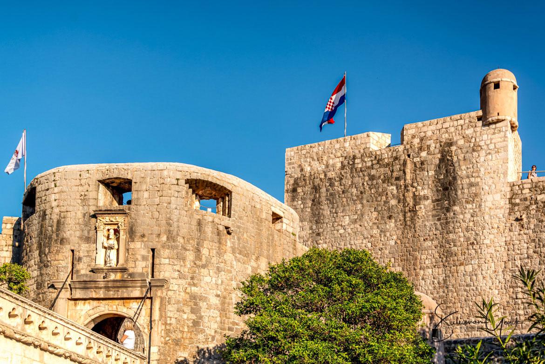 Old Town City Walls Dubrovnik Ancient Croatia Venetian Castle Medieval