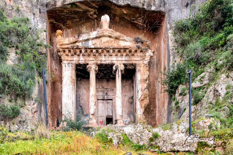 Amynthas Rock Tombs Telmessos Lycia Fethiye Mugla Turkey Ancient Greek Archaeological