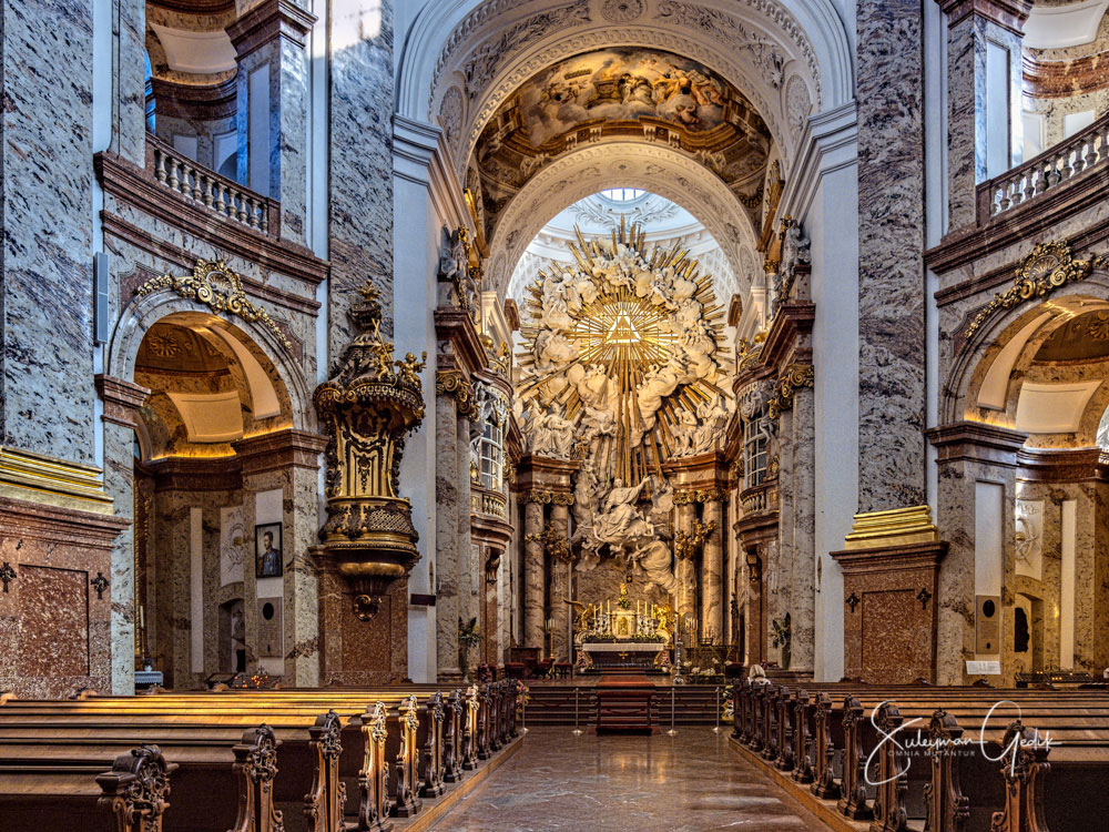 Karlskirche Vienna Wien Austria Church Christian Catholic