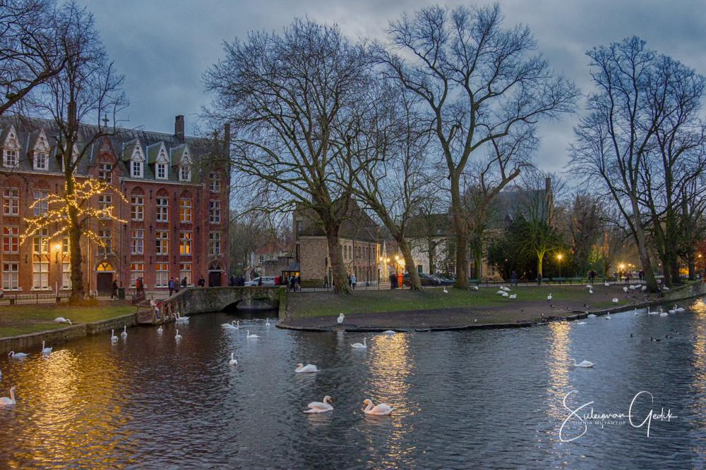 Brugge Belgium Evening Europe